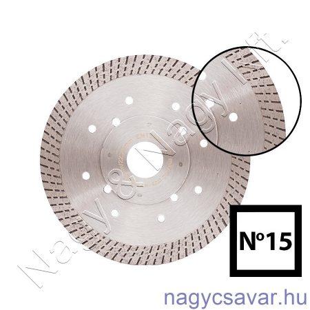 Gyémánttárcsa No15 125x22,23mm