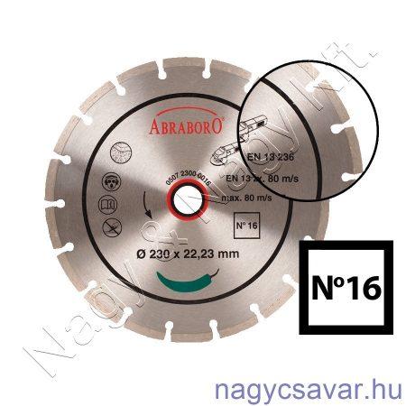 Univerzális gyémánttárcsa No16 125x22,23mm