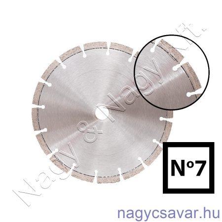 Univerzális gyémánttárcsa No7 125x22,23mm