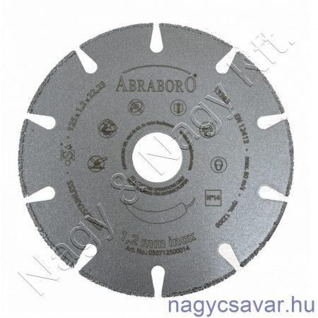 INOX gyémántszemcsés vágókorong 125x1,2x22,23mm