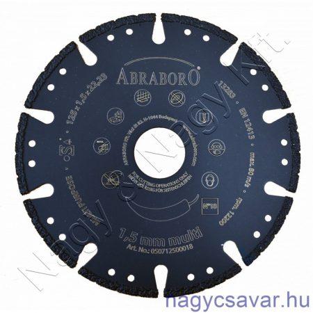 Multi gyémántszemcsés vágókorong 125x1,5x22,23mm