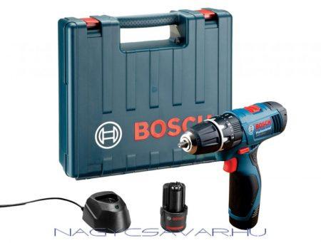 Bosch GSR 120-LI akkus fúró-csavarozó 12V Li-Ion 2x1,5Ah + koffer