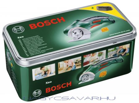 Bosch XEO körkéses vágó fém doboza és töltője GÉP NÉLKÜL!