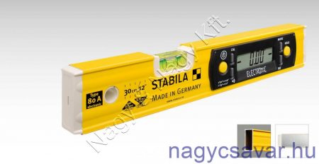 Stabila lejtésmérő és vízmérték 80-A-electronic/30cm (17323)