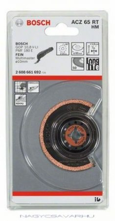 Bosch ACZ 65 RT keskeny élű szegmens fűrészlap HM Riff