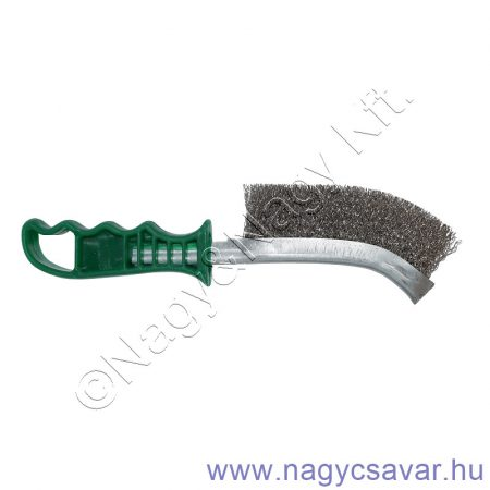 Kézi kefe zöld nyelű 290/140mm 0.30 INOX