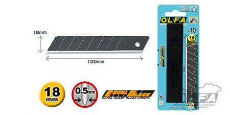 Olfa LBB-10B 18mm-es fekete penge 10db
