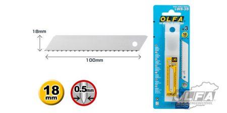 OLFA LWB-3B 18mm-es penge 3db