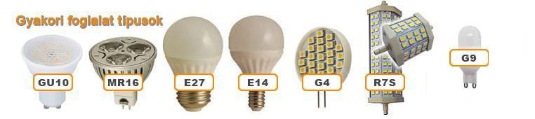 Led lámpák, foglalatok, trafók, kiegészítőlk, LED-szalagok fehér, színes és színváltó változatokban